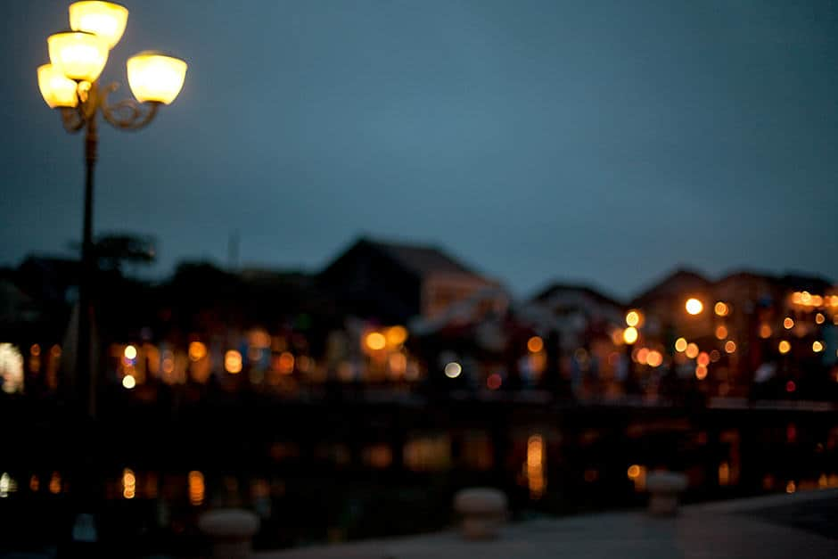 Hoi An at night, out of focus