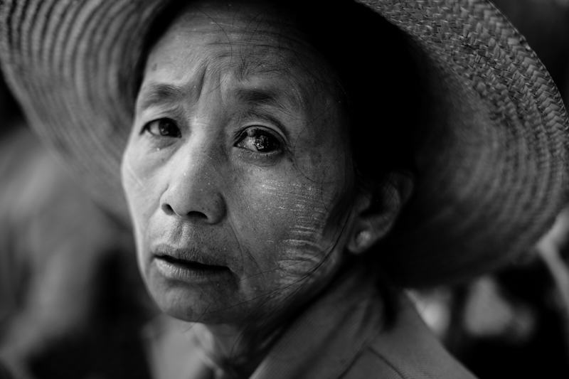 Portrait of a woman in Myanmar