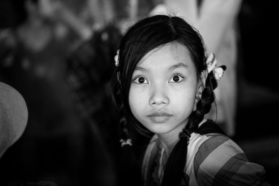 portrait of Burmese girl with big eyes