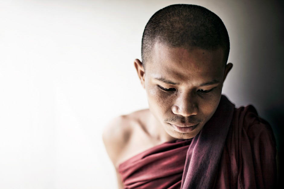 Burmese monk portrait