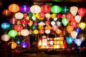 lanterns in Hoi An at night