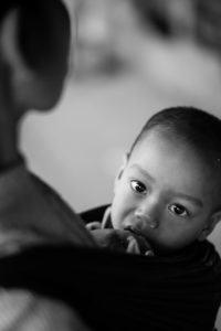 portrait of a Lao ethnic boy