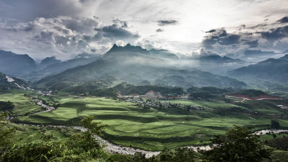 Muong Hum valley in North Vietnam