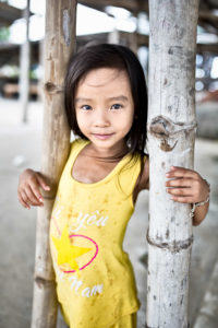 Vietnamese girl posing for a photo