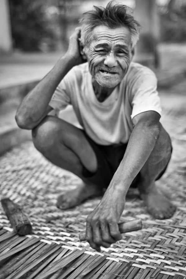 portrait of an old Vietnamese man