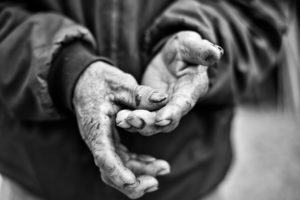 Vietnamese man's old hands