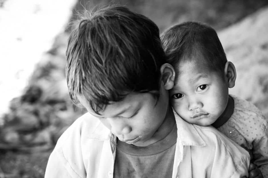 2 Burmese brothers from the Shan state, Myanmar.