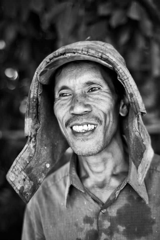 Vietnamese man with a hat