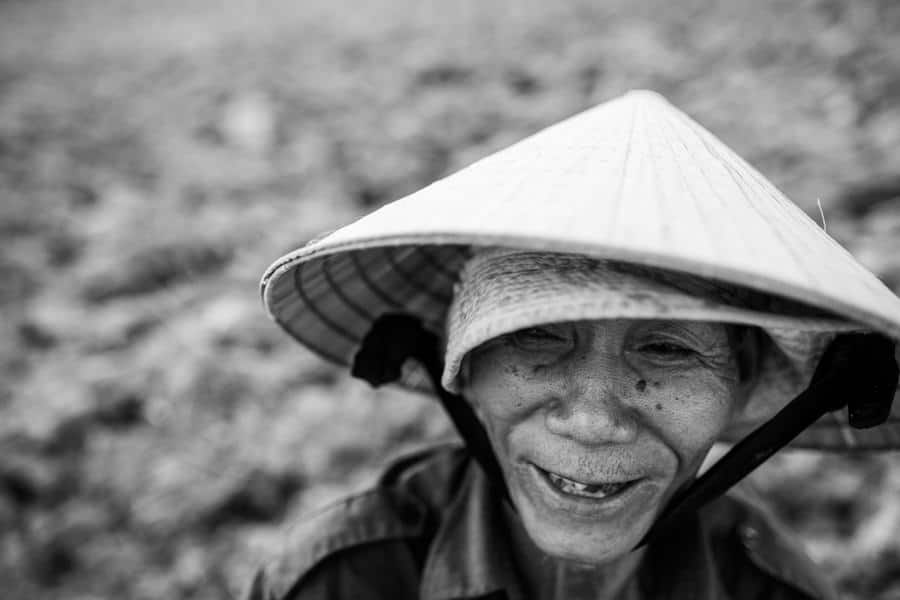 Portrait of an old Vietnamese man