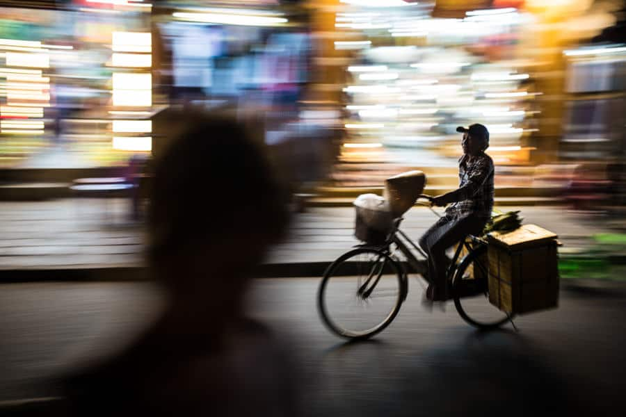 Panning of a bicycle