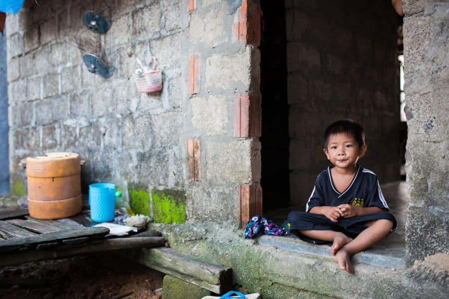 Portrait of a young Vietnamese boy