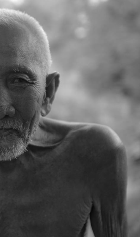 Portrait of an old Lao man