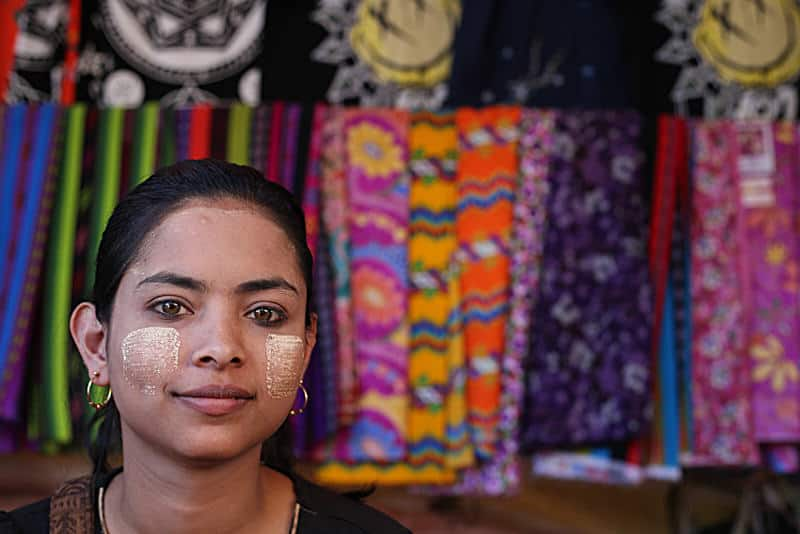 Young Burmese girl in a market
