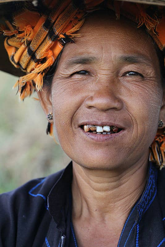 portrait of a Pao woman around Inle lake