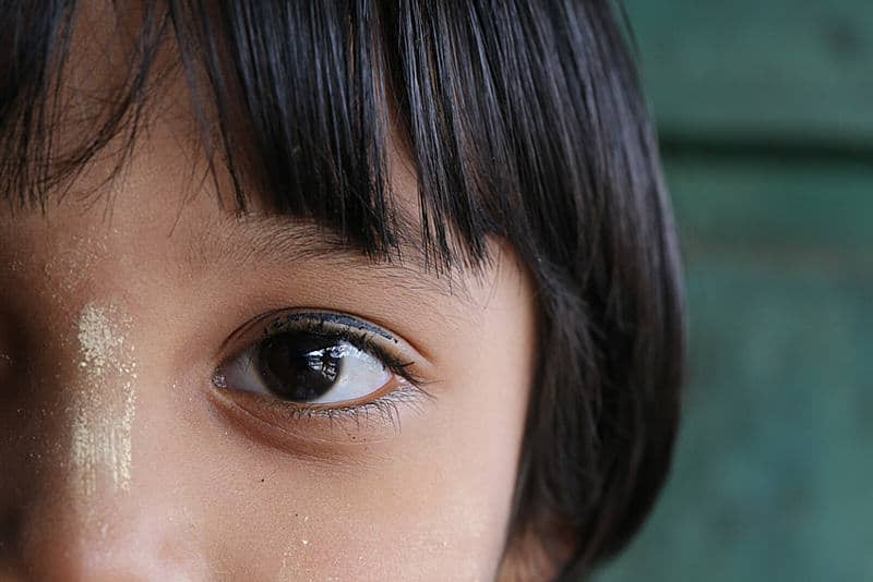 close up of a Nepali girl in Kalaw