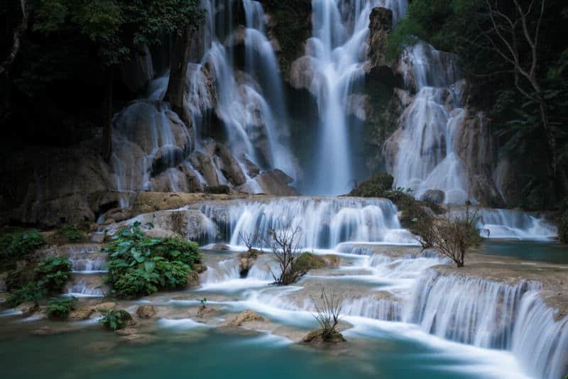 Kuang Xi waterfall in Laos