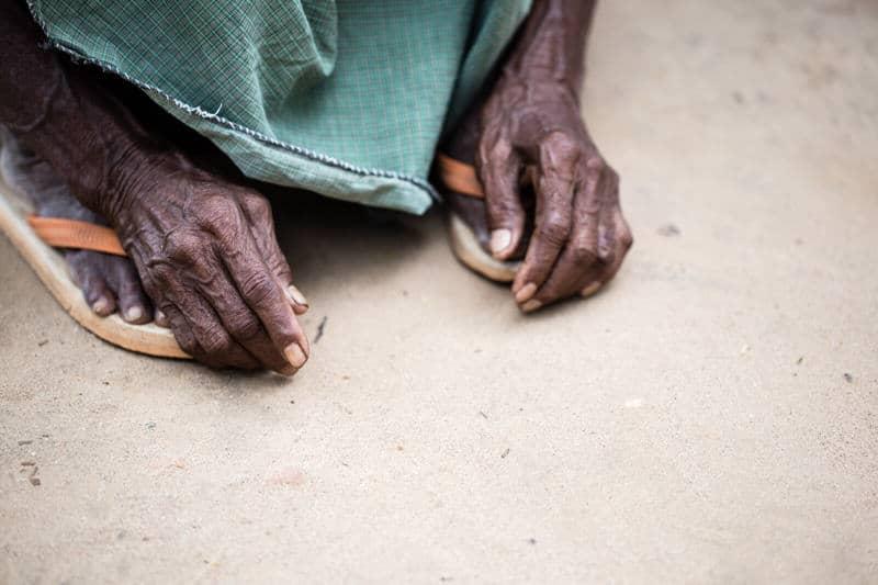 Man hands in Myanmar