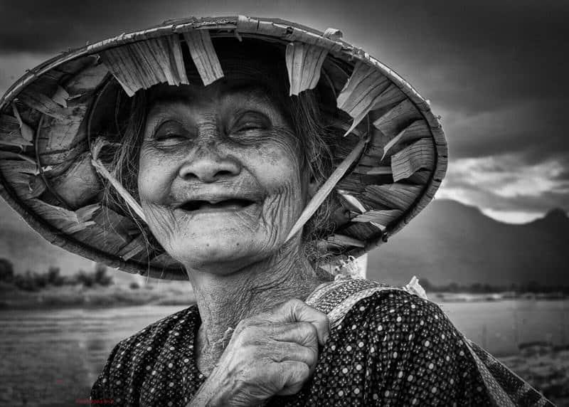 portrait of a woman in Laos