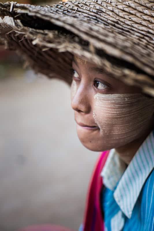 Myanmar girl portrait