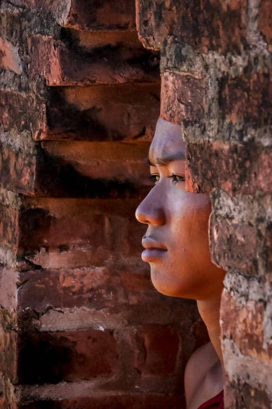 Young monk portrait