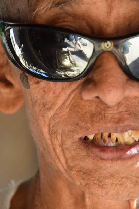 Portrait of an old man in Myanmar