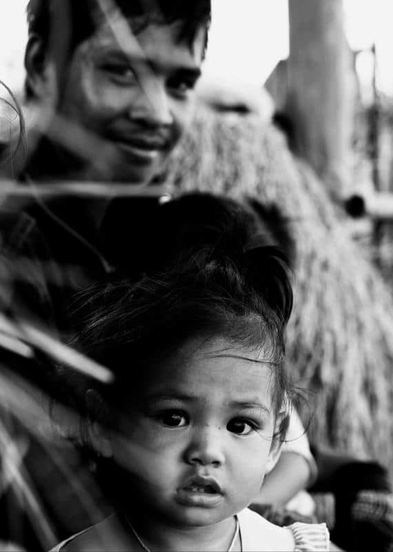 Portrait of a young girl in Laos