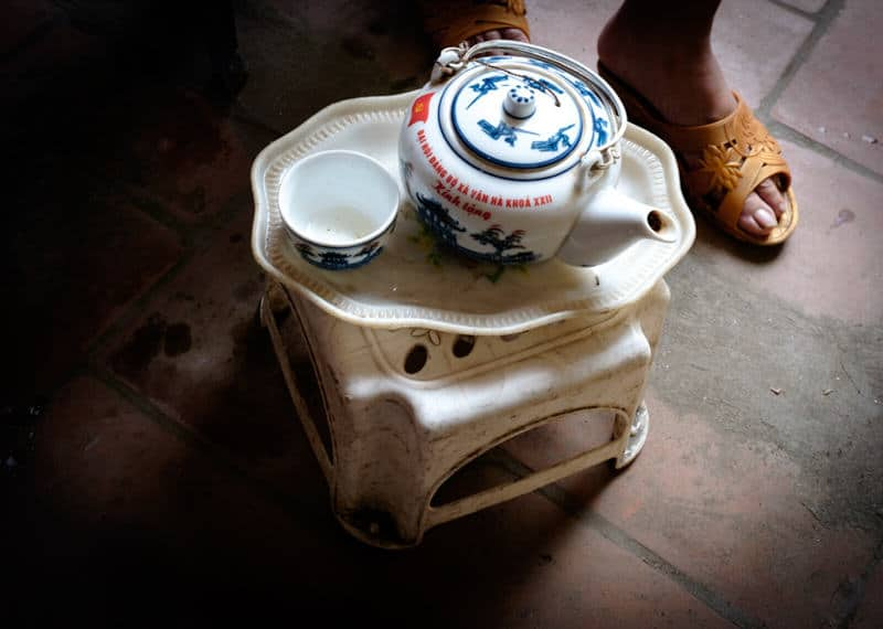 close up of a tea pot in Vietnam