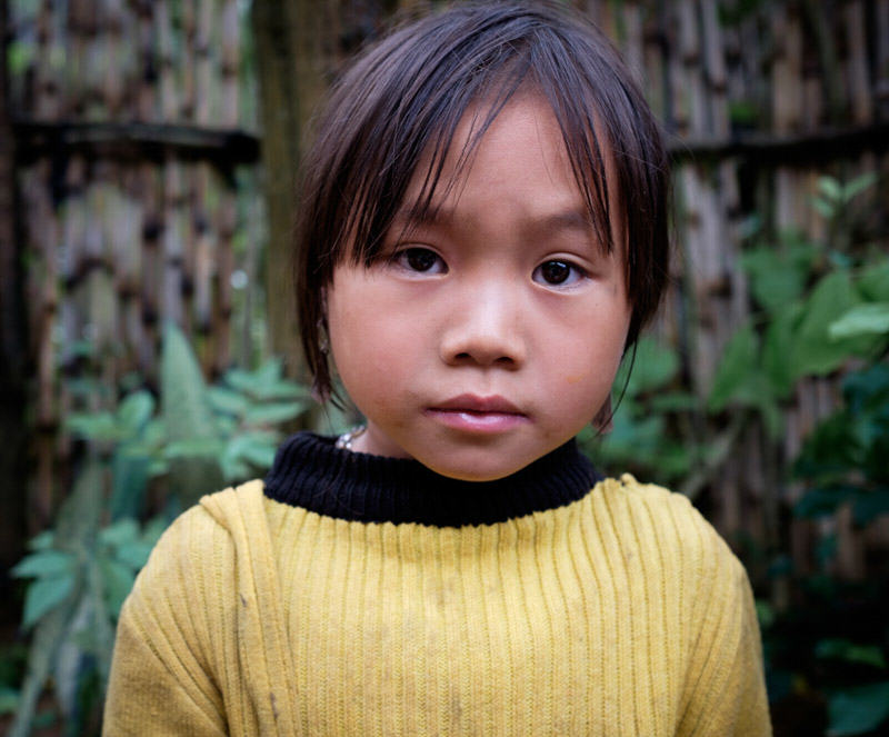 portrait of a Hmong girl in Vietnam