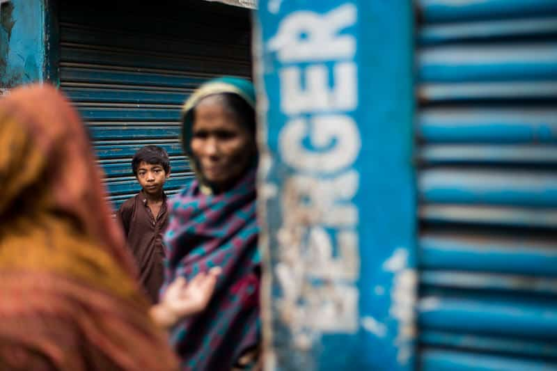Young boy in the streets of South Dhaka