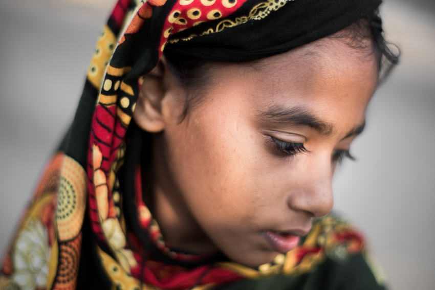 Portrait of a Hindu girl in Bangladesh