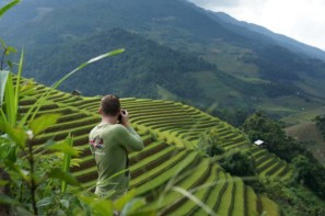 Pics of Asia photographer Etienne Bossot taking photos in Vietnam