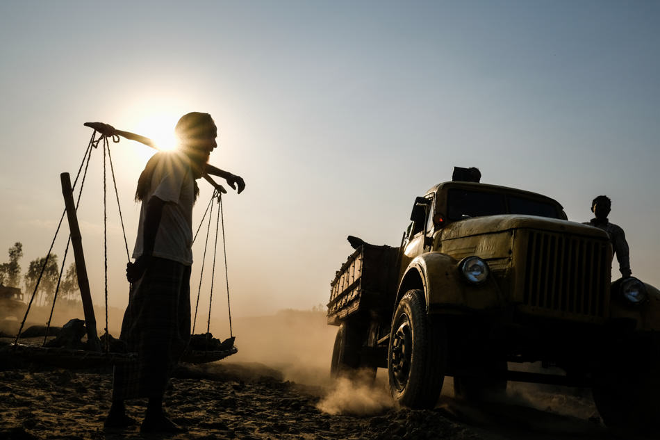 Bengali man at sunset