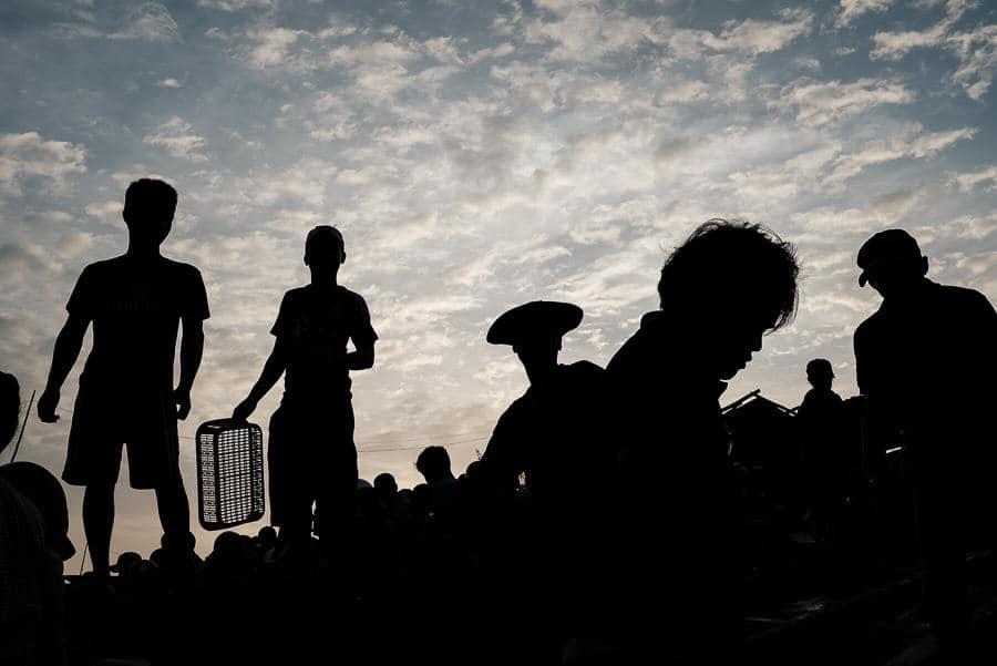 Vietnam men silhouette