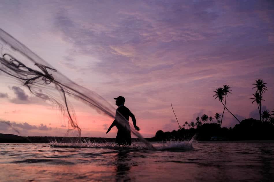 Sri Lanka fisherman near Galle