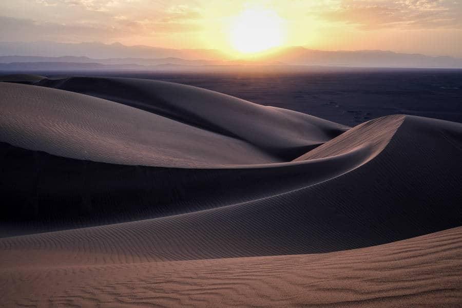 Lut desert sand dunes, Iran