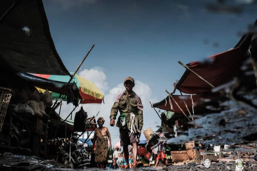 Yangon market reflections