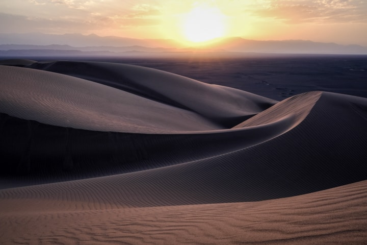 Rolling sand dunes in the Dasht-e Lut of Iran - Photo Tour Image Pics Of Asia
