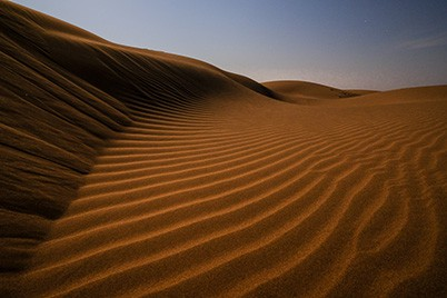 A sand dune in Iran taken during a photography tour with Pics of Asia