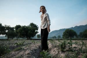 Farmer in the field during Pics of Asia exploration of Mekong Delta, Vietnam