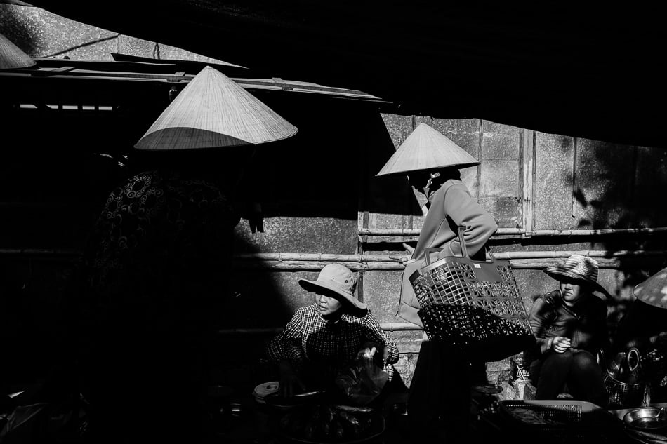 street photo of a market in Vietnam