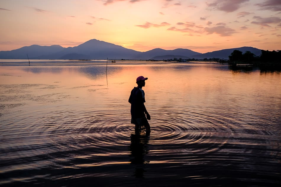 Tam Giang lagoon at sunrise by Pics of Asia photographer near Hue, Vietnam
