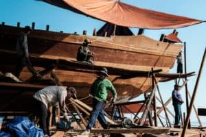 A shipyard near Hue in Vietnam during Pics of Asia advanced photography workshop