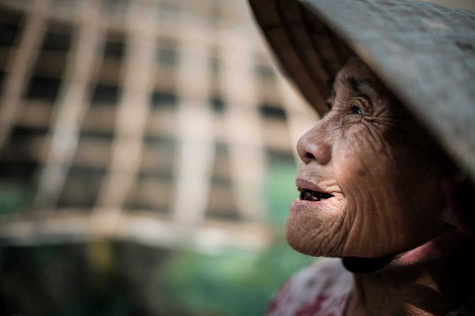 Close up portrait of a Vietnamese woman