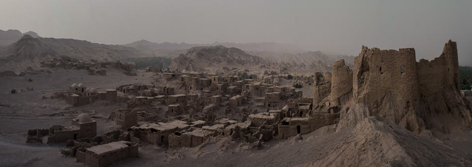 Old city of Keshit in Iran - ruins in the desert photographed with Fujifilm