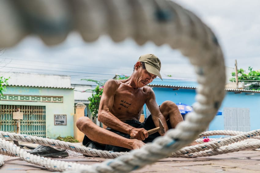 A creative photo of a fisherman in Vietnam by Quinn Ryan Mattingly