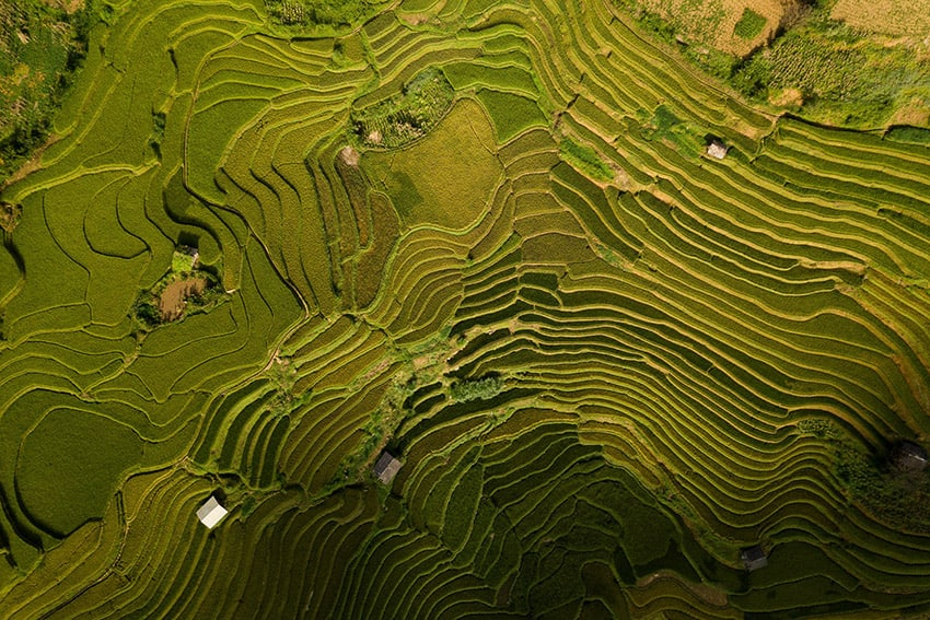 Lee Starnes capturing the mountains of North Vietnam with a drone during the photography tour by Pics of Asia in 2018