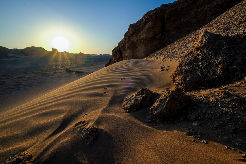 Landscape image of the desert of Kalout in South Iran during Pics of Asia photography tour