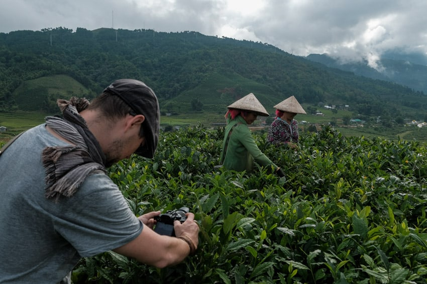 Pics of Asia photography tour leader in the tea plantations of North Vietnam
