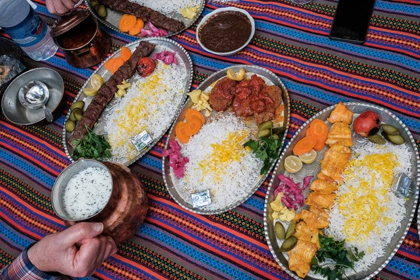 Some dishes of Kerman traditional food in a local restaurant during Pics of Asia photography tour in Iran