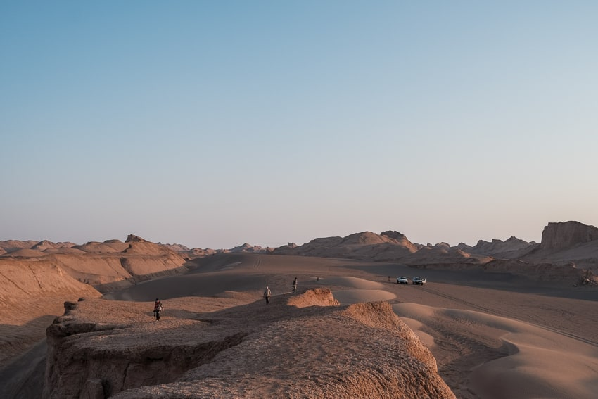 Our group capturing the sunset over the kalout desert in Iran in 2018